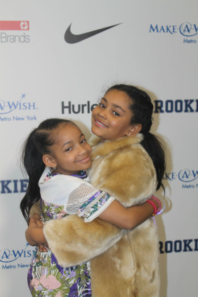 Haileigh Vasquez and Leah Still pose backstage at the Rookie Usa 2017 show.