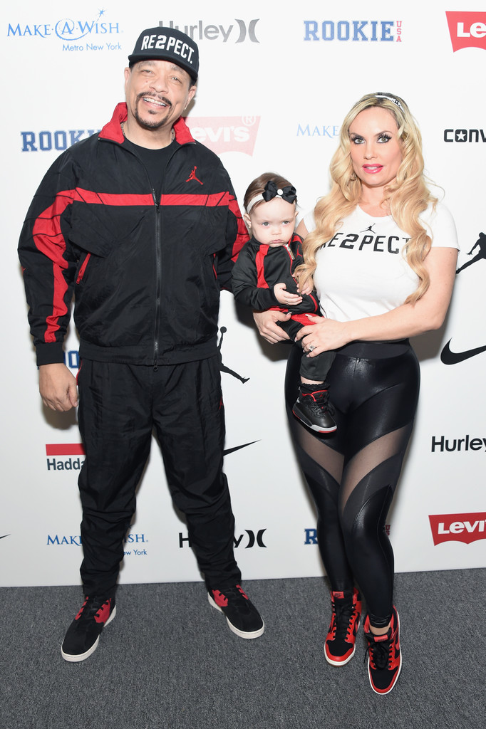 Ice-T and Coco Austin take on the red carpet with their daughter, Chanel. Coco held her daughter for a bit before letting Chanel walk on her own.