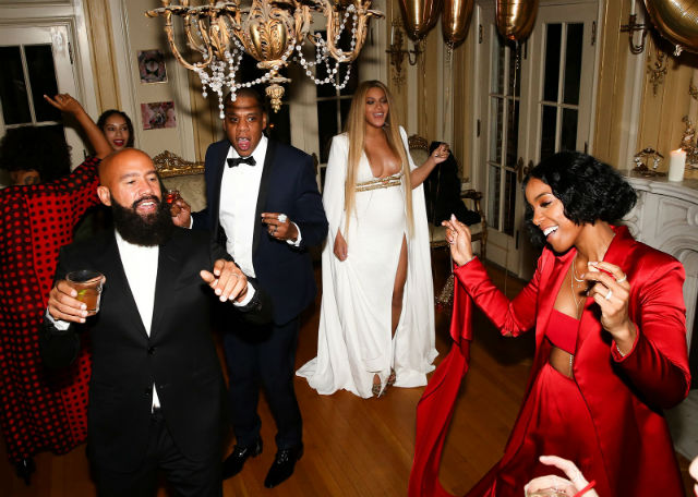 BEYONCE BUMPS IT UP AT GRAMMY'S AFTER PARTY