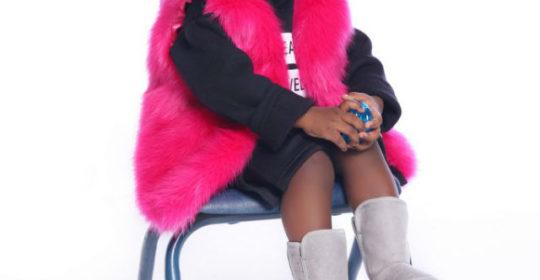 Skylar models her Sweetheart Faux Fur Vest ($50)