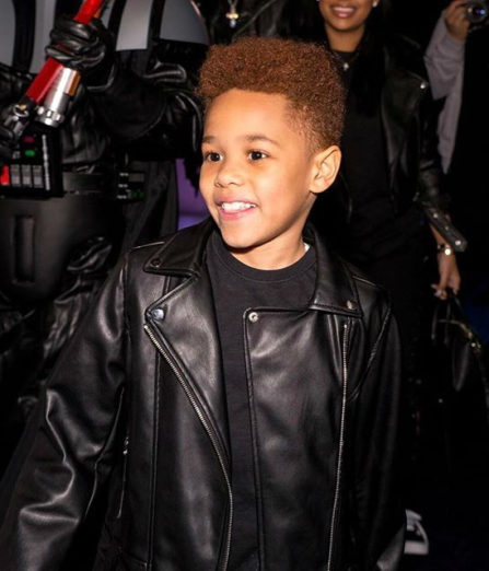 Johan Jackson, son of Fabolous and Emily B, celebrates his 9th birthday with a Stars Wars themed party.