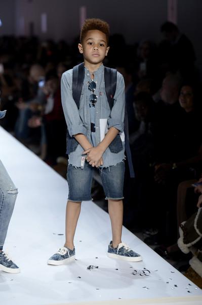 Johan Jackson, son of rapper Fabolous and stylist Emily B, struts the runway.