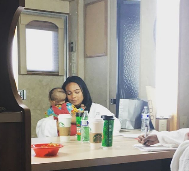 TATYANA ALI BONDS WITH SON WHILE WORKING ONSET