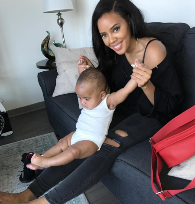 ANGELA SIMMONS CELEBRATES SON'S 6-MONTH MILESTONE