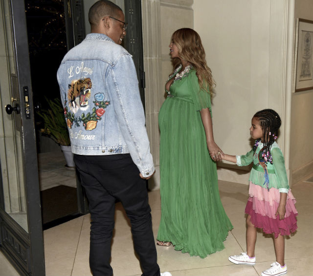 The Carters arrive at the 'Beauty and the Beast' premiere.