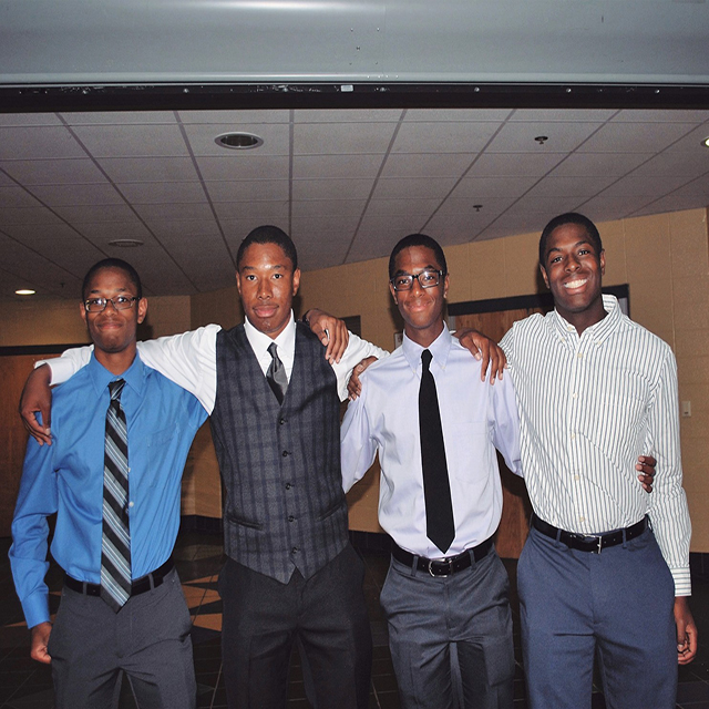 Photo Credit: The Washington Post/Courtesy of Aaron Wade/The Wade brothers, from left: Nigel, Zach, Aaron and Nick