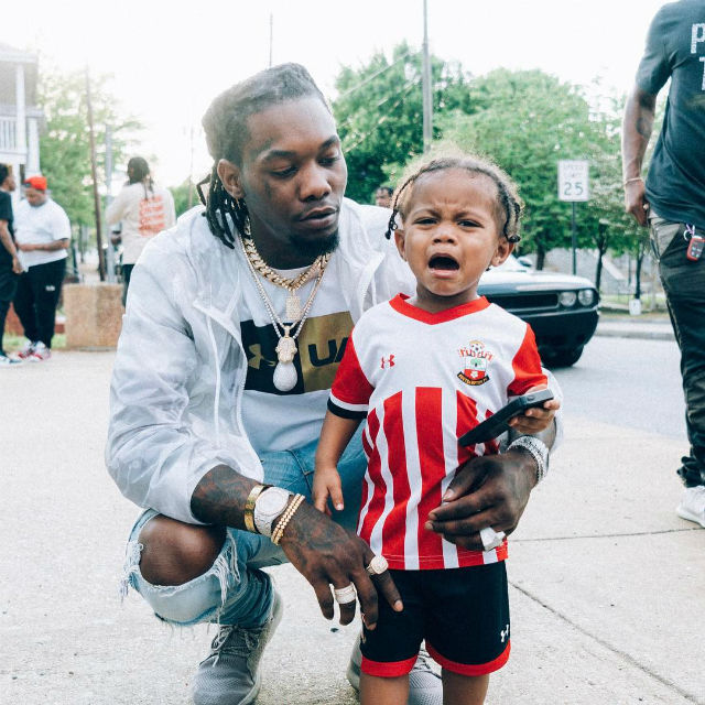Offset Spends Quality Time With His Son