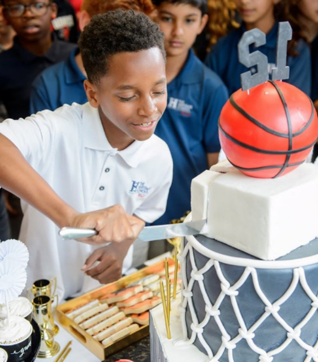 RODNEY 'ROCKO' HILL CELEBRATES HIS BIRTHDAY AT SCHOOL