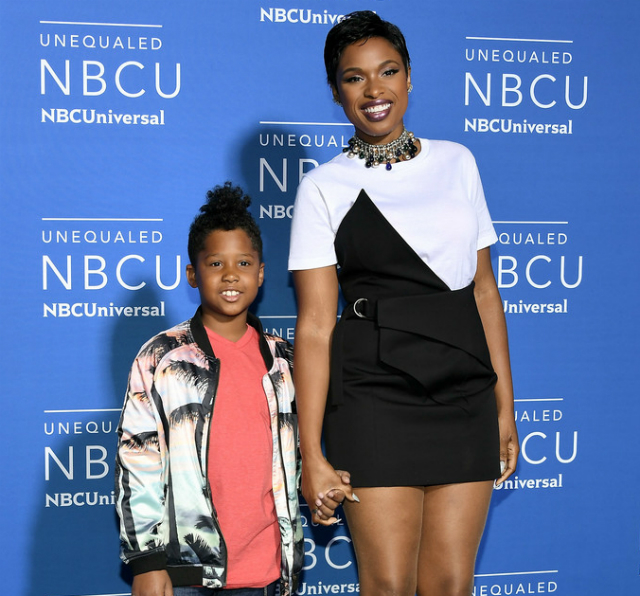 JENNIFER HUDSON AND SON ATTEND 2017 NBC UNIVERSAL UPFRONT EVENT