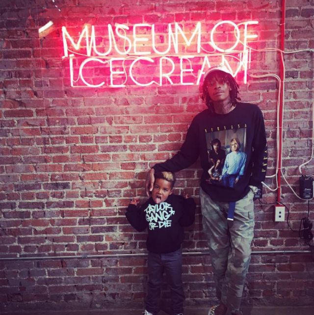 WIZ KHALIFA AND SON STOP BY THE MUSEUM OF ICE CREAM