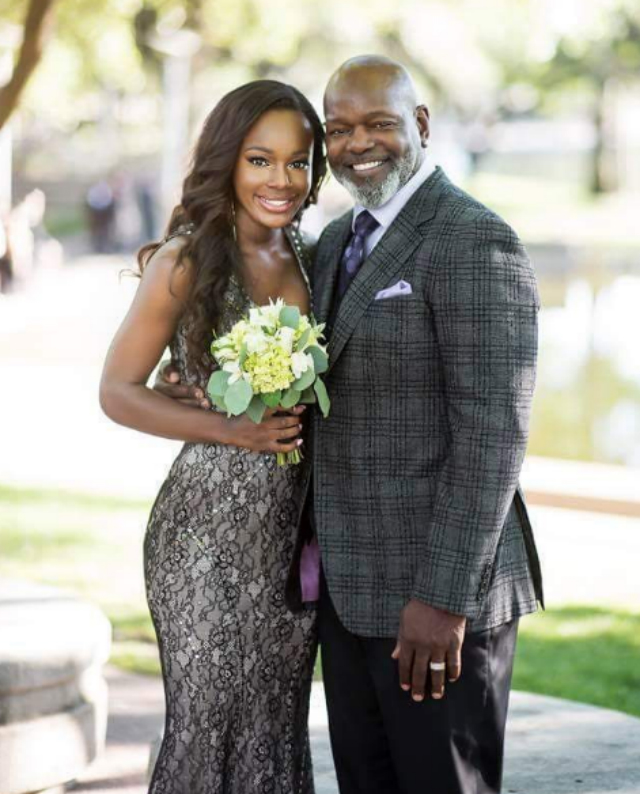 """Enjoy the moments, Rheagen's Senior Prom... they grow up so fast,"" proud dad Emmitt Smith wrote online."