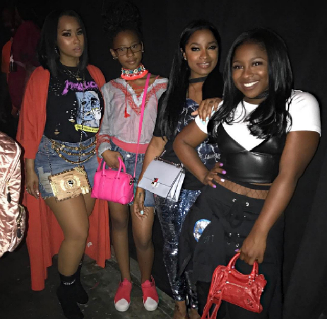 TOYA WRIGHT AND DAUGHTER MEET UP WITH THE FLOCKAS AT CHRIS BROWN'S 'THE PARTY TOUR'