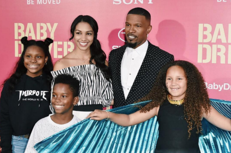 JAMIE FOXX AND THE FAMILY SHOW UP AND OUT AT THE 'BABY DRIVER' PREMIERE