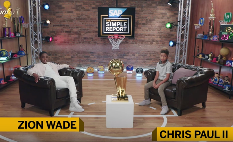 CHRIS PAUL AND DWYANE WADE'S SONS HOST 'THE SIMPLE REPORT'