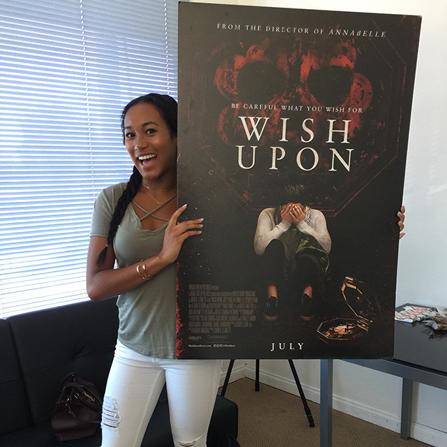 'WISH UPON' STAR SYDNEY PARK TALKS TO BCK ABOUT NEW FILM AND MUCH MORE