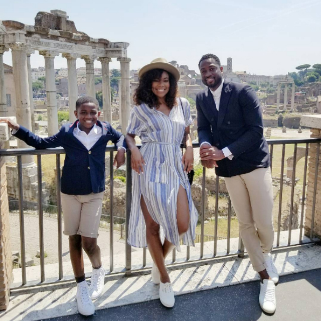 DWYANE WADE AND THE FAMILY SPENT FATHER'S DAY IN ITALY