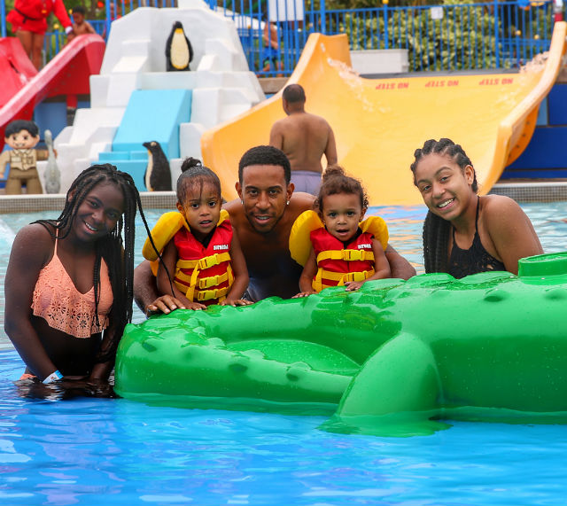 Ludacris, wife Eudoxie, daughters Karma, Cai, and Cadence spent the day at Lego Land this week. The Bridges were joined by their close friend and actress Letoya Luckett and Eudoixie's sister Mimi.