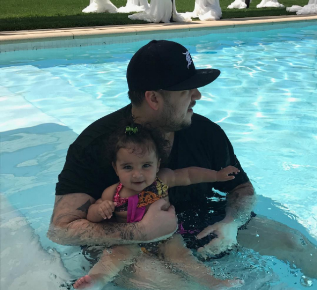 DREAM KARDASHIAN ENJOYS POOL TIME FUN WITH DAD