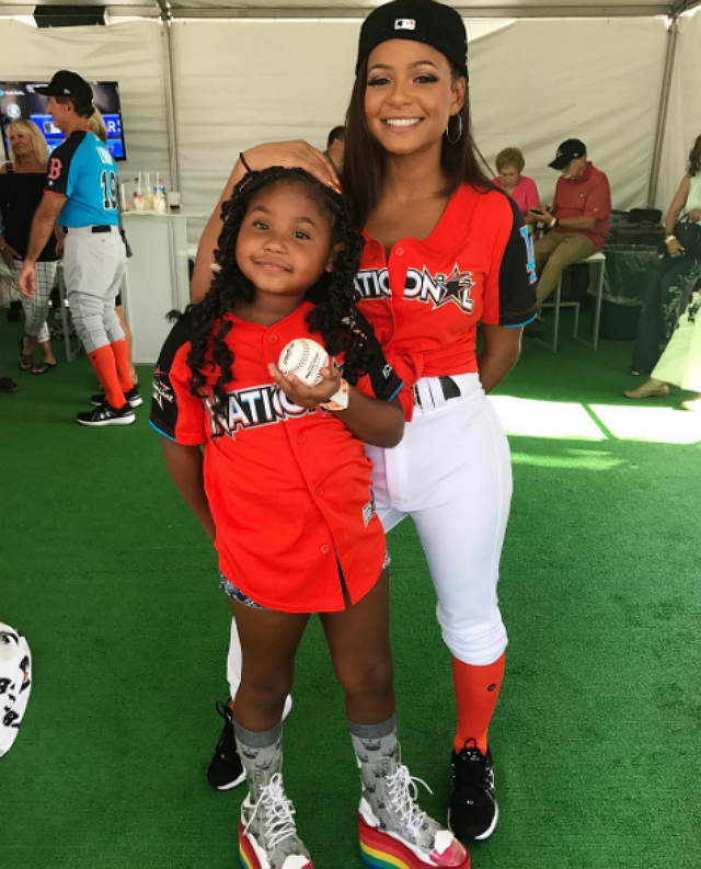 CHRISTINA MILIAN, JAMIE FOXX ATTEND MLB ALL-STAR GAME WITH THEIR DAUGHTERS