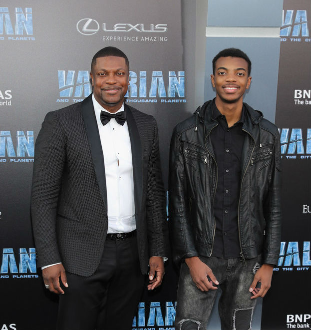 CHRIS TUCKER AND SON ATTEND 'VALERIAN AND THE CITY OF A ...