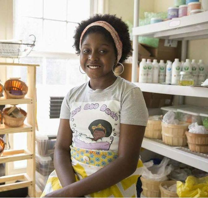 VIRGINIA PRE-TEEN, JELANI JONES, SET TO TAKE OVER THE BATH PRODUCTS BUSINESS