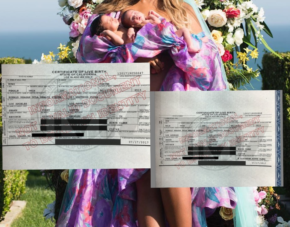 BIRTH CERTIFICATES REVEAL WHAT WE ALREADY KNEW ABOUT SIR AND RUMI CARTER