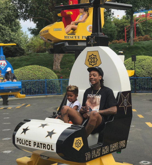 WIZ KHALIFA AND SON 'RODE EVERY ROLLER COASTER TWICE' DURING RECENT THEME PARK VISIT