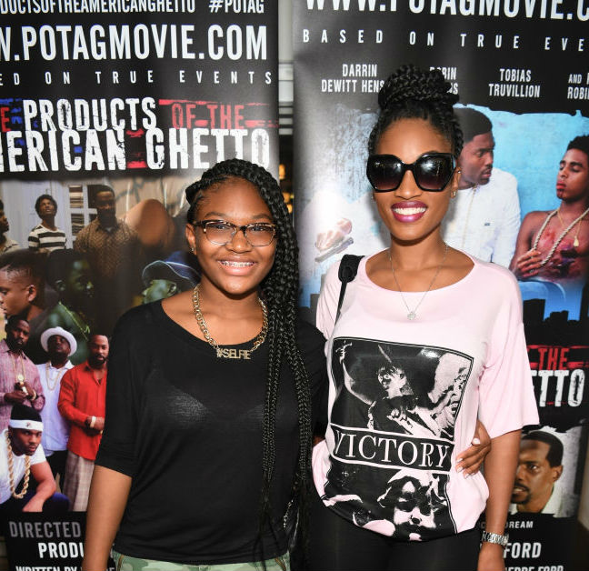 ERICA DIXON AND DAUGHTER  SCREEN 'THE PRODUCTS OF THE AMERICAN GHETTO'