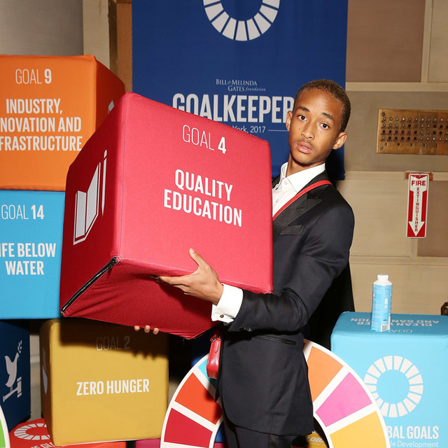 JADEN SMITH ATTENDS THE GOALKEEPERS GLOBAL AWARDS
