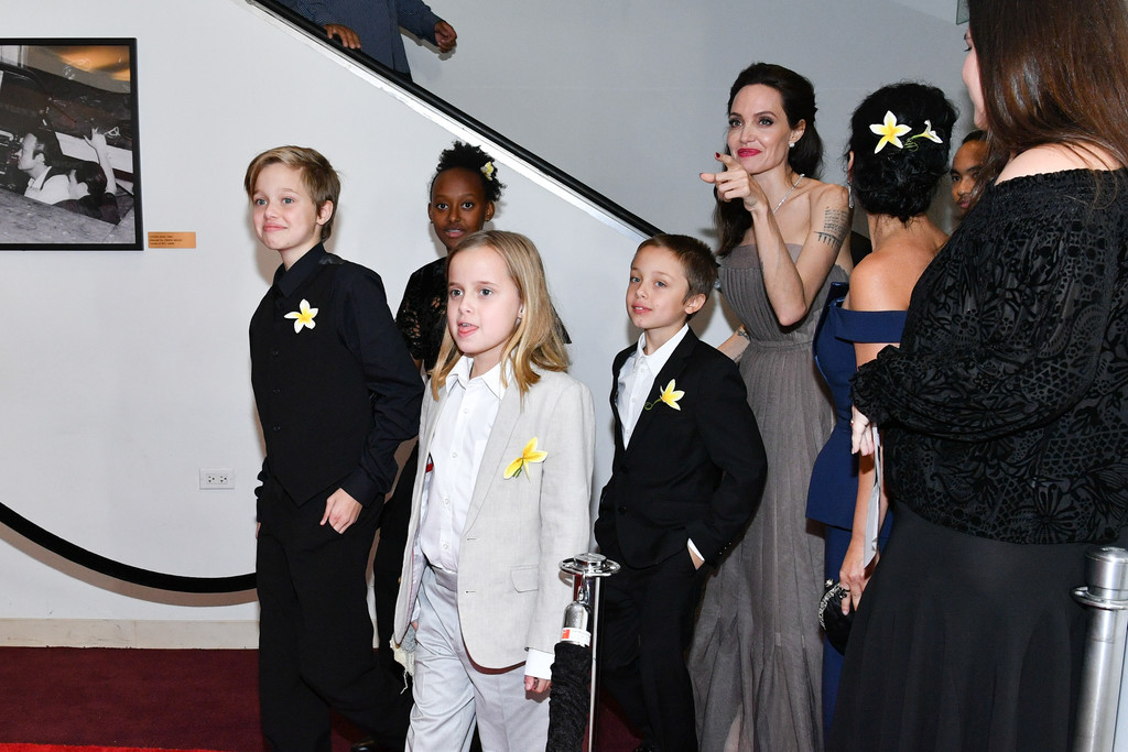 ANGELINA JOLIE AND THE KIDS ATTEND 'FIRST THEY KILLED MY FATHER' NYC PREMIERE