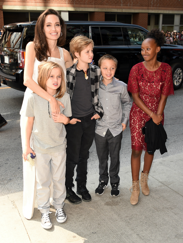 ANGELINA JOLIE AND KIDS ATTEND 'THE BREADWINNER' PREMIERE AT THE TORONTO FILM FESTIVAL