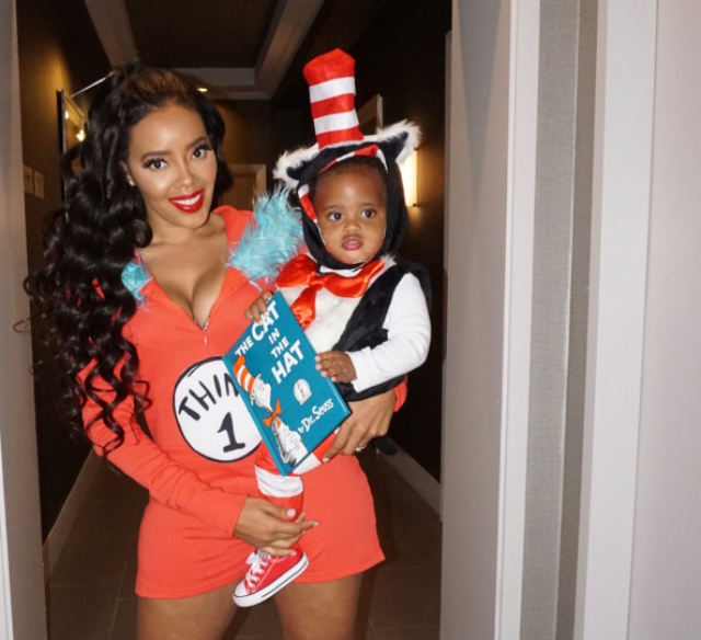 ANGELA SIMMONS HAD A BUSY WEEKEND WITH HER SON