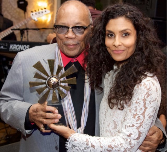 DO-GOODERS ERIC BENET AND MANUELA TESTOLINI HONOR QUINCY JONES AT 'IN A PERFECT WORLD' EVENT