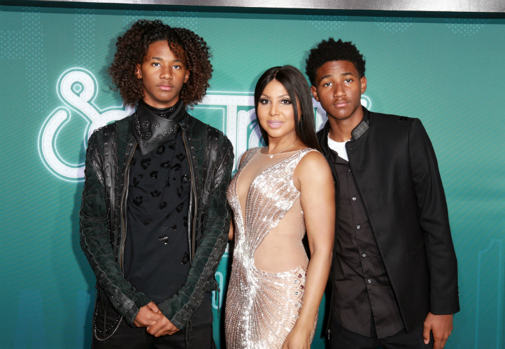 TONI BRAXTON AND SONS ATTEND THE 2017 SOUL TRAIN AWARDS