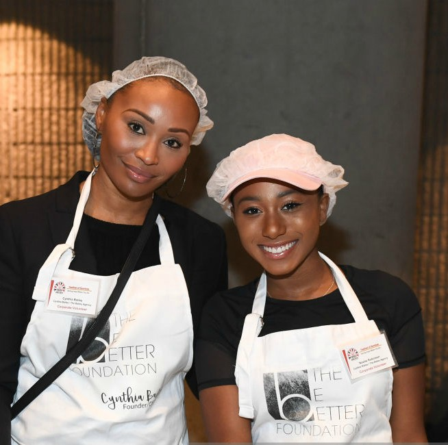 CYNTHIA BAILEY AND DAUGHTER PARTNER WITH 'HOSEA HELPS!' TO GIVE BACK
