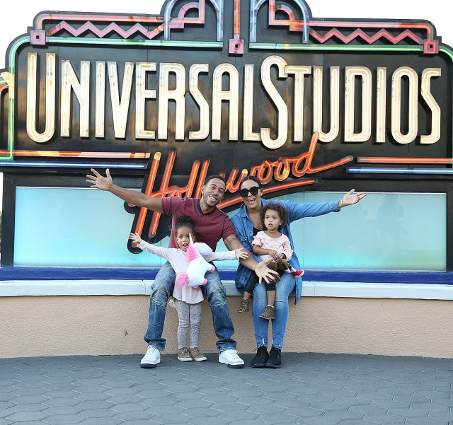 LUDACRIS AND THE FAMILY SPEND THE WEEKEND AT UNIVERSAL STUDIOS HOLLYWOOD