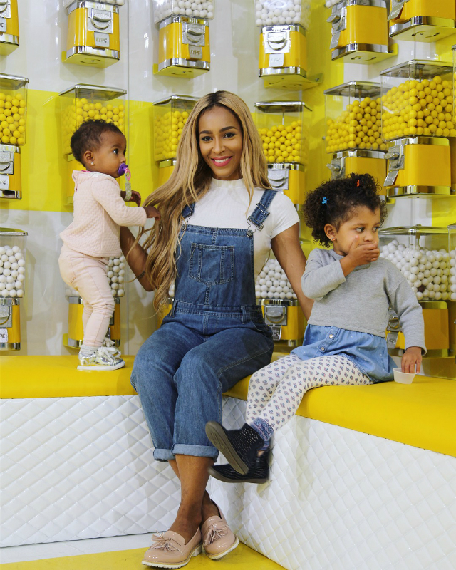 AMINA BUDDAFLY TAKES HER KIDS TO THE HAPPY PLACE
