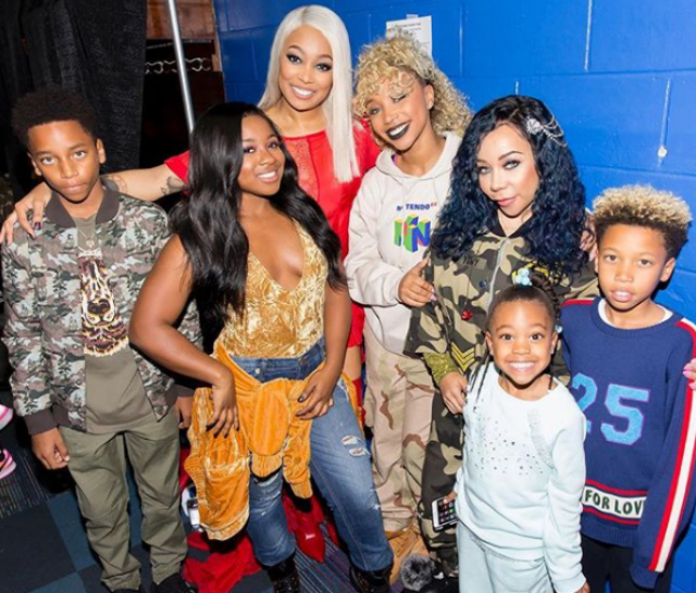 WORKING MOMS: MONICA BROWN AND TAMEKA HARRIS HAVE THEIR KIDS' SUPPORT ON THE GREAT XSCAPE TOUR