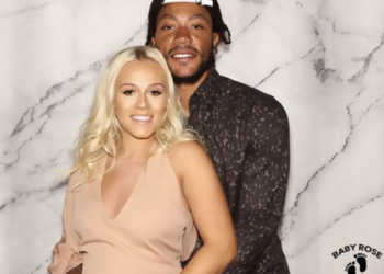 DERRICK ROSE AND GIRLFRIEND CELEBRATE THE IMPENDING BIRTH OF THEIR CHILD