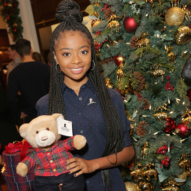 SKAI JACKSON ATTENDS ANNUAL BROOKS BROTHERS' HOLIDAY PARTY FOR CHARITY