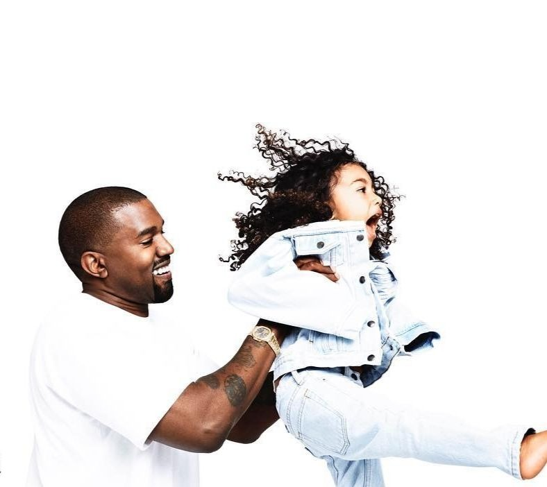 KANYE WEST AND DAUGHTER NORTH WEST STAR IN LATEST CHRISTMAS CARD PHOTO