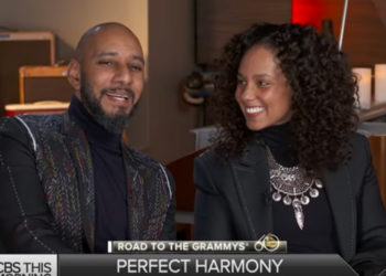 ALICIA KEYS AND SWIZZ BEATZ TALK CAREERS AND KIDS AHEAD OF GRAMMY AWARDS HONOR
