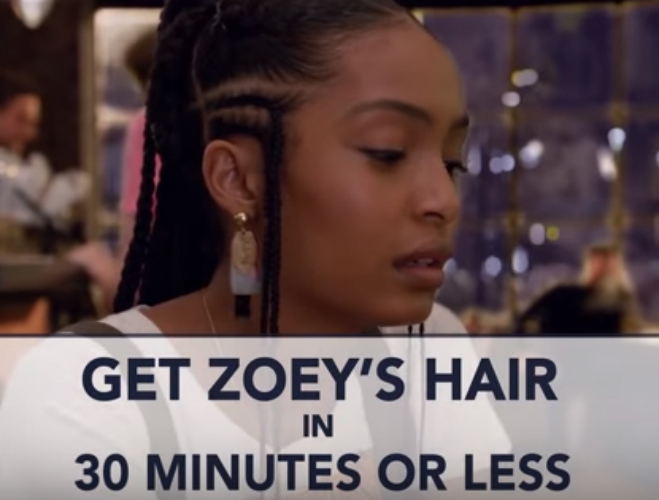 Grown Ish Style Get Zoey S Hair In 30 Minutes
