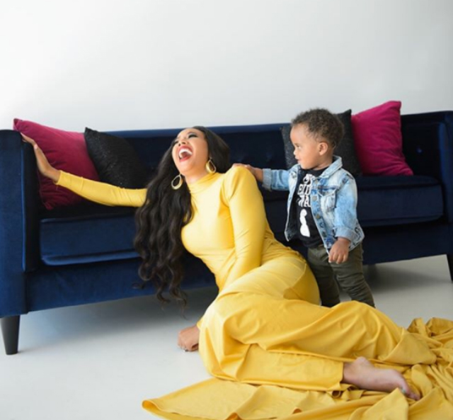 ANGELA SIMMONS STARTS THE YEAR OFF WITH SWEET PHOTOS AND VIDEO CLIPS OF HER SON