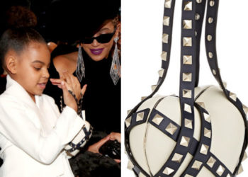 BLUE IVY CLUTCHES A $2,675 VALENTINO PURSE AT THE GRAMMY'S