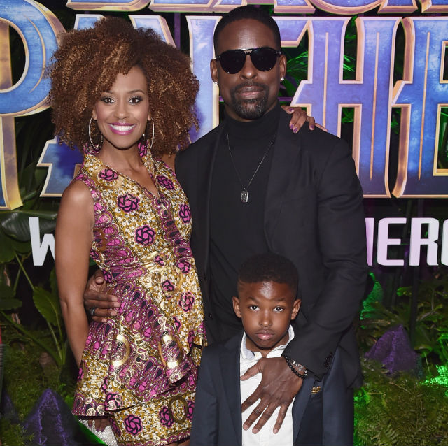 Last Night Was The Black Panther Premiere And It Was: STERLING K. BROWN AND FAMILY ATTEND 'BLACK PANTHER' PREMIERE