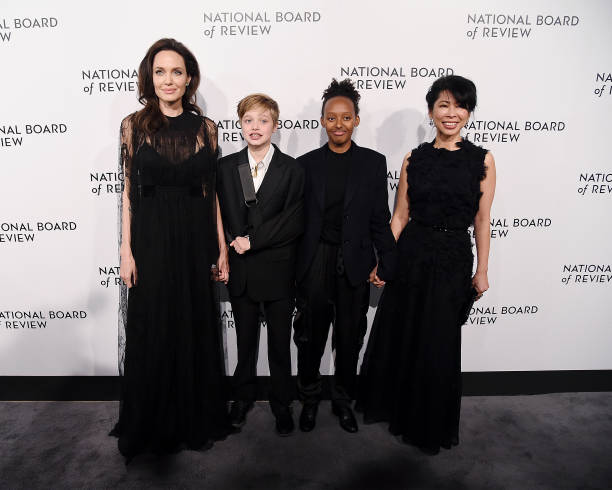 ANGELINA JOLIE ATTENDS NATIONAL BOARD OF REVIEW ANNUAL AWARDS WITH HER DAUGHTERS