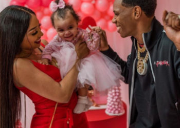 RAPPER A BOOGIE WITH DA HOODIE CELEBRATES HIS DAUGHTER'S FIRST BIRTHDAY