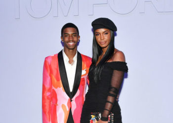 CHRISTIAN COMBS AND HIS MOM ATTEND TOM FORD WOMEN'S FALL/WINTER 2018 SHOW AT NYFW