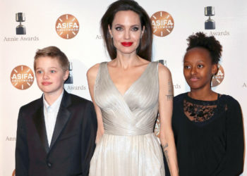 ANGELINA JOLIE AND DAUGHTERS ATTEND 2018 ANNIE AWARDS
